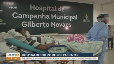 Em Manaus, hospital de campanha recebe os primeiros pacientes - Três pessoas foram encaminhadas durante a madrugada.