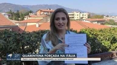 Itália adota medidas para aumentar isolamento social e evitar contágio da Covid-19 - A cantora Priscila Fiorentim mostra como está a situação no país.
