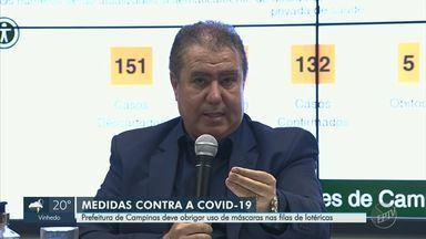 Campinas registra mais 6 casos e confirma Hospital de Campanha na sede do Patrulheiros - Cidade tem ainda 1.113 casos em investigação. Prefeito anunciou novas medidas em coletiva realizada nesta terça-feira (14).