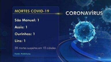 Bauru registra terceira morte por Covid-19. Confira o balanço da região - A prefeitura de Bauru (SP) confirmou mais duas mortes por coronavírus na cidade nesta terça-feira (14). Ao todo, a cidade já soma 3 mortes.