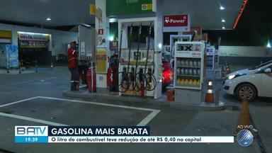 Gasolina tem queda no preço em Salvador, redução foi de R$ 0,40 no preço do litro - Confira.