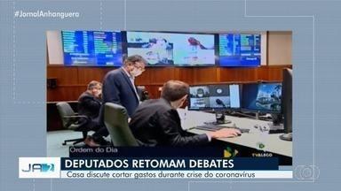 Assembleia Legislativa discute corte de gastos durante crise do coronavírus em Goiás - A sessão foi transmitida pela internet.
