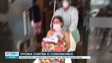 Idosa de 70 anos, asmática e hipertensa, é curada do novo coronavírus no ES - Idosa de 70 anos e com comorbidades venceu a doença