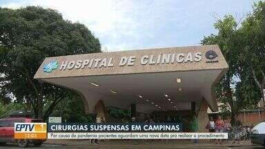 Pacientes que estavam com cirurgia marcada aguardam nova data por causa da pandemia - Cirurgias eletivas são canceladas pelo fato da maior parte do corpo clínico e estrutura dos hospitais estarem voltadas para o atendimento de pacientes com a Covid-19.