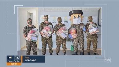 Exército arrecada doações no Oeste de SC - Exército arrecada doações no Oeste de SC