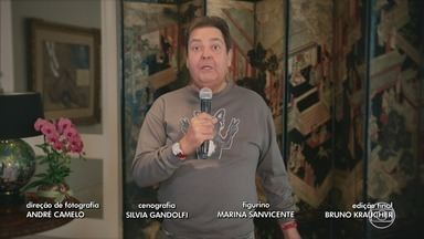 Programa de 19/04/2020 - Roberto Carlos comemora aniversário com apresentação no Domingão do Faustão.