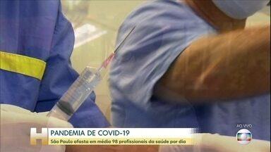 Coronavírus: São Paulo afasta em média 98 profissionais da saúde por dia - O novo coronavírus já infectou mais de 39 mil pessoas e matou mais de 2.500 no país. São Paulo, que é o epicentro da doença, registra uma média de 98 afastamentos de profissionais da saúde na rede pública por dia, desde que o primeiro caso foi confirmado.