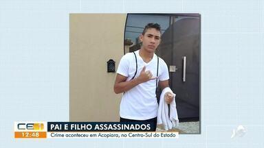 No Centro-Sul do Ceará, pai e filho são assassinados a tiros em Acopiara - Saiba mais em g1.com.br/ce