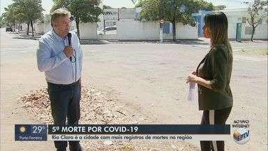 Rio Claro é a cidade com mais registros de morte por Covid-19 na região - Morte de comerciante de 48 anos foi a quinta.