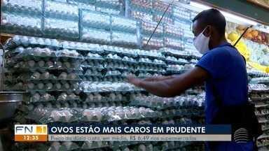Preço dos ovos aumenta nos supermercados de Presidente Prudente - Valor da dúzia, em média, é de R$ 6,49 nos estabelecimentos.