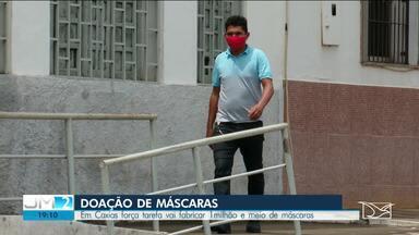 Força tarefa vai fabricar mais de 1 milhão de máscaras em Caxias - Decisão foi tomada após decreto do governo do estado que determina o uso obrigatório das máscaras.