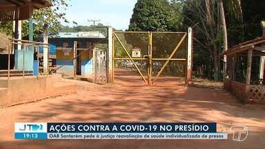 OAB pede à Justiça reavaliação de saúde individualizado de presos em Santarém - Do total de 72 presos, que estão no grupo de risco em relação ao novo coronavírus, 31 têm idade entre 50 e 71 anos.