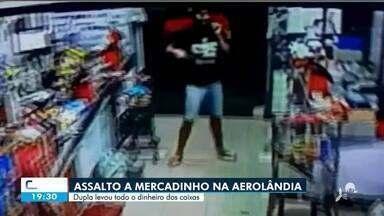 Flagrante de assalto a mercadinho na Aerolândia - Confira mais notícias em g1.globo.com/ce