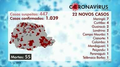 Paraná atinge 1.039 casos confirmados do novo coronavírus - Prefeitura de Curitiba registrou mais quatro mortes de ontem para hoje.