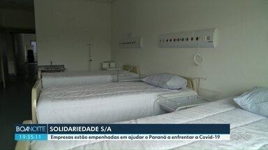 Empresários se mobilizam para distribuir doações no Paraná - Empresas estão empenhadas em ajudar o Estado a enfrentar a Covid-19.