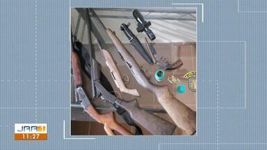 Trio suspeito de furtar armas é preso com espingardas e munições no Sul de RR - Prisões foram efetuadas por policiais militares de São Luís, São João da Baliza e Caroebe, na região Sul.