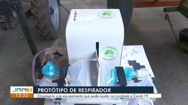 Empresários de Roraima criam protótipo de respirador mêcanico - O equipamento auxilia os pulmões atingidos por covid-19 que já não conseguem se movimentar sozinhos.