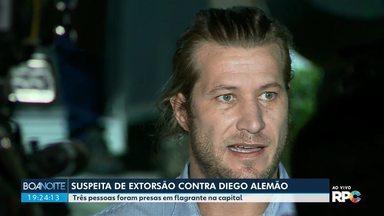 Três pessoas são presas suspeitas de tentar extorquir o ex-BBB Diego Alemão - Eles foram presos em flagrante.