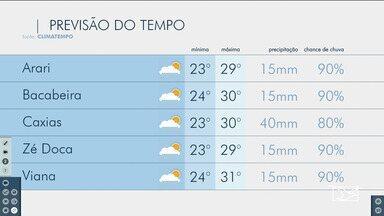 Veja as variações das temperaturas no Maranhão - Confira a previsão do tempo nesta quinta-feira (23) em São Luís e também no interior do estado.