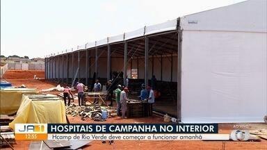 Veja como está andamento de construções de hospiatais em Goiás - Unidades de saúde estão sendo feitas no interior para atender casos de Covid-19.