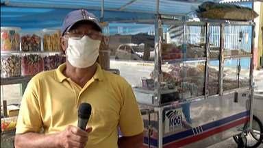 Empreendedores de rua retornam ao trabalho em Mogi das Cruzes - Atividade foi permitida para quem trabalha com o setor de alimentação.