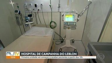 Hospital de campanha do Leblon começa a receber pacientes com Covid-19 neste sábado (25) - Primeiros pacientes começam a chegar a partir das 18h. A abertura dos leitos vai acontecer de forma gradual.
