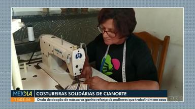Costureiras de Cianorte se unem pela solidariedade - Onda de doação de máscaras ganha reforço de mulheres que trabalham em casa