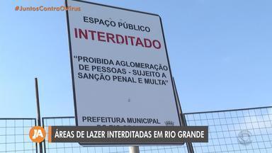 Prefeitura de Rio Grande interdita áreas de lazer para evitar aglomerações - Praia do Cassino também está fechada.