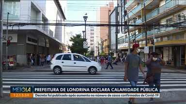 Londrina declara calamidade pública com avanço do coronavírus - Veja também neste bloco que paranaenses que estavam na Austrália conseguiram voltar para o Brasil. E que, em Maringá, feiras livres foram autorizadas a reabrir.