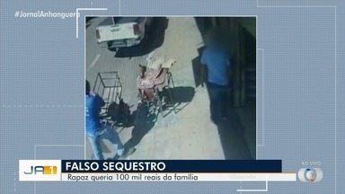 Estudante de SP é preso em Trindade suspeito de forjar próprio sequestro - Rapaz queria R$ 100 mil da família.