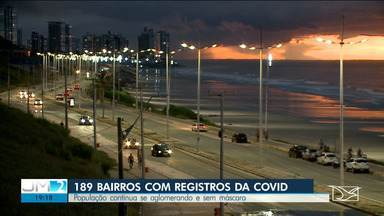 São Luís tem 189 bairros com casos confirmados de coronavírus - Mesmo com os números, a população continua se aglomerando.