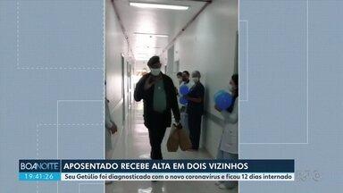 Aposentado recebe alta após 12 dias de internação por Coronavírus - Getúlio ficou internado no município de Dois Vizinhos.