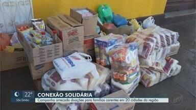 Campanha da EPTV arrecada mantimentos para famílias de baixa renda em Ribeirão Preto - Iniciativa conta com apoio de 20 prefeituras.