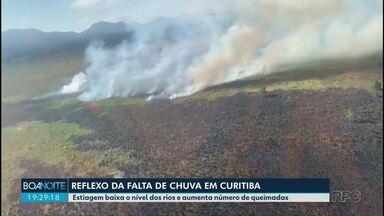 Tempo seco favorece as queimadas no Paraná - A estiagem que fez baixar o nível dos rios em todo o Estado é a principal causa de incêndios como os que atingiram a reserva do Iraí, na região metropolitana de Curitiba.