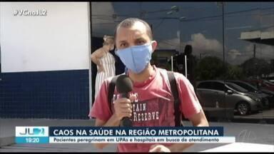 Pacientes peregrinam em UPAs e hospitais de Belém em busca de atendimento - Pacientes peregrinam em UPAs e hospitais de Belém em busca de atendimento