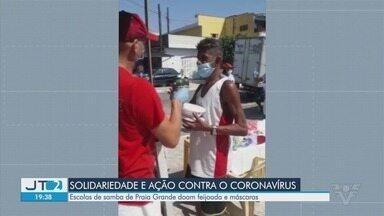 Escolas de samba de Praia Grande doam feijoada e máscaras - Ação de solidariedade é feita em período de crise com a pandemia.