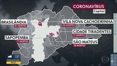 Brasilândia tem o maior número de mortes pela Covid-19 - Bairros mais afastados são os mais afetados,