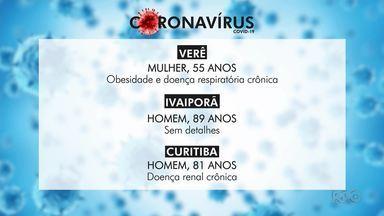 Paraná registra mais três mortes por Covid-19 - Foram registrados 30 novos casos da doença no estado.