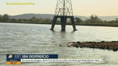 Moradores flagrados desperdiçando água serão multados em Santa Cruz do Sul - Valores variam de R$ 900 até R$ 3 mil. Lago Dourado tem 40% da sua capacidade.
