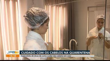 Cabeleireira dá dicas de cuidados com cabelos durante a quarentena - Profissional ressalta cuidados com beleza.