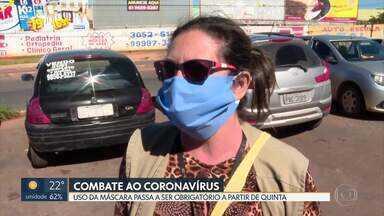 Uso de máscaras passa a ser obrigatório na quinta-feira - Decreto do GDF vale a partir do dia 30. População pode usar a máscara descartável ou a caseira.