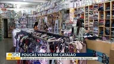 Comércio volta a funcionar em Catalão - Lojistas precisaram adotar novas medidas de higiene.