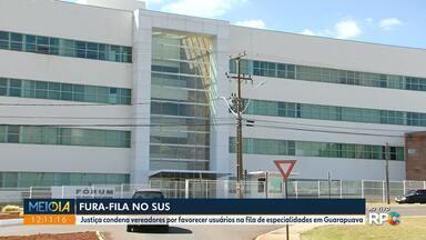 Vereadores são condenados por favorecer usuários do SUS - A decisão inclui ainda funcionária do Consórcio Intermunicipal de Saúde da região de Guarapuava