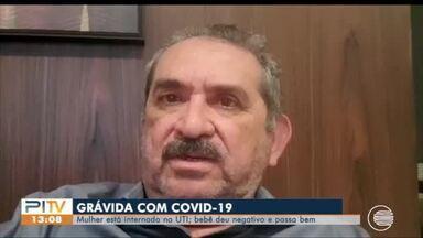 Grávida é internada com COVID-19; bebê testou negativo - Grávida é internada com COVID-19; bebê testou negativo