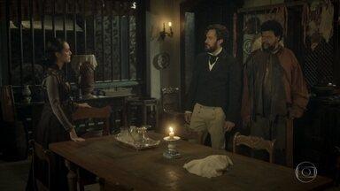 Thomas apresenta Jacinto como um ex-combatente de guerra - O ministro diz a Anna o homem é um soldado que salvou sua vida na Cisplatina. Thomas exige que Jacinto fique longe da cidade e, especialmente, de Joaquim