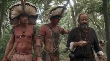 Os Tucaré chegam às novas terras - Piatã tem dificuldades para realizar suas tarefas na aldeia