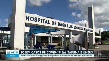 Número de casos de Covid-19 dispara na região sul da BA e leitos ainda não são suficientes - Já são mais de 350 casos apenas nas cidades de Ilhéus e Itabuna.