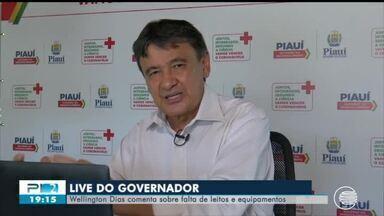 Governador e prefeito fazem transmissões ao vivo para falar sobre situação do coronavírus - Governador e prefeito fazem transmissões ao vivo para falar sobre situação do coronavírus