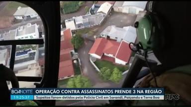 Operação contra homicídios prende 3 na região - Prisões foram realizadas em Sarandi,Paiçandu e Terra Boa.