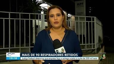 Justiça Federal determina entrega de 94 respiradores retidos em SP - Confira mais notícias em g1.globo.com/ce
